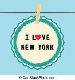 I lOVE NEW YORK - I LOVE NEW YORK letter. Card for...
