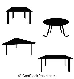 room table black silhouette