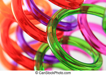 spiral color plastic straws as nice color background