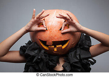 Funny pumpkin face