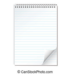 note paper spiral lined - Simple illustrated spiral bound...