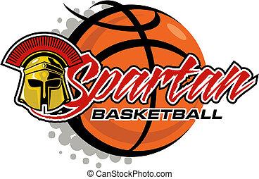 spartan basketball - Spartan basketball design with helmet...