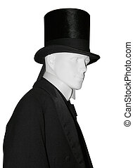 Victorian Male Mannequin isolated with clipping path...