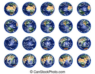 Earth Globes collection - Big Earth Globes collection on...