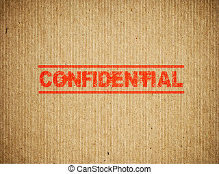 Confidential box.