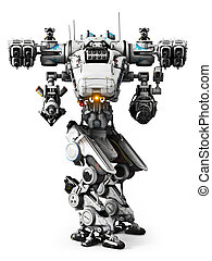 White Mech weapon - White Mech weapon with full array of...