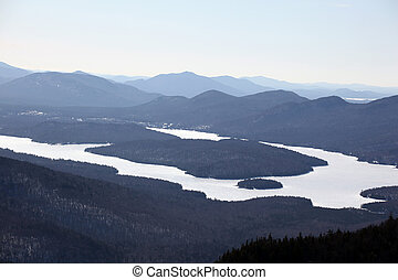 fingerlakes at lake placid - Winter shot of the fingerlakes...
