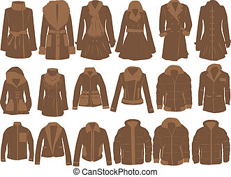 vector collection of clothes