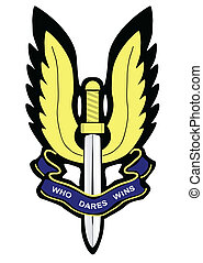 SAS Badge - A depiction of the Special Air Service badge...