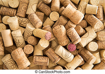 Background texture of used wine corks - Background texture...