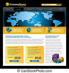 web site design template - Business vector web site design...