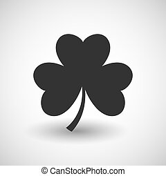 Shamrock icon on soft background. Vector.