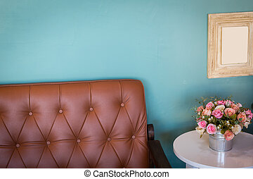 vase of flowers in modern white living room