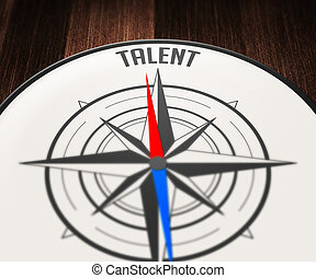 Talent Word Indicated by Compass