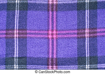 Tartan pattern - Close up of a purple tartan blanket