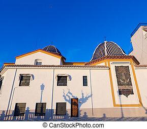 Benidorm San Jaime church Alicante in balcon mediterraneo...