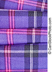 Tartan pattern - Close up of a folded tartan blanket