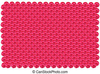 pattern from red flowers like laces - pattern from nice red...