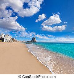Calpe playa Arenal Bol beach near Penon Ifach Alicante -...