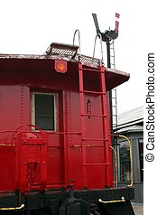 Old Caboose - An old caboose parked at an old train depot.