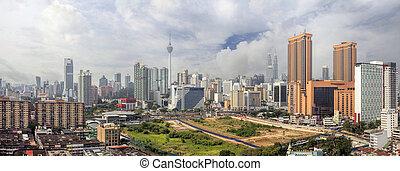 Kuala Lumpur Cityscape Panorama