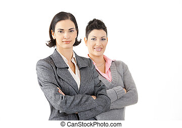 Young businesswomen - Happy young businesswomen smiling,...