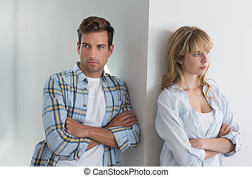 Couple not talking after an argument