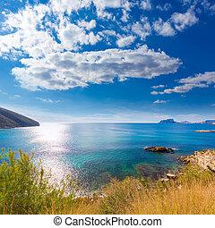 Moraira playa el Portet beach in Mediterranean Alicante -...