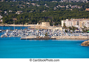 Moraira Teulada marina port in Alicante Mediterranean Spain