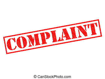 COMPLAINT red Rubber Stamp over a white background.
