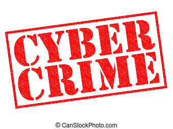 CYBER CRIME red Rubber Stamp over a white background.