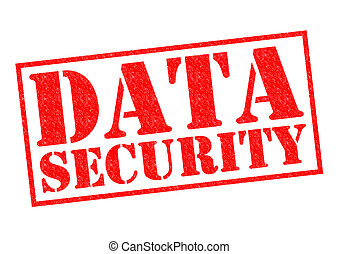 DATA SECURITY red Rubber Stamp over a white background.