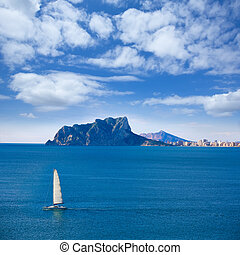 Ifach Penon view of calpe from Moraira in Alicante - Ifach...