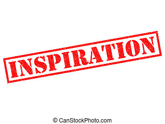 INSPIRATION red Rubber Stamp over a white background.