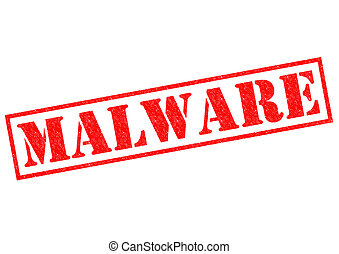 MALWARE red Rubber Stamp over a white background