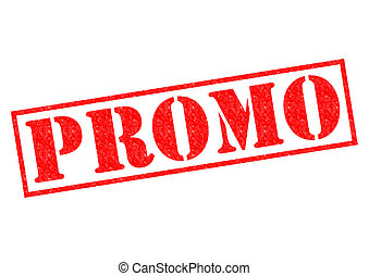 PROMO red Rubber Stamp over a white background.