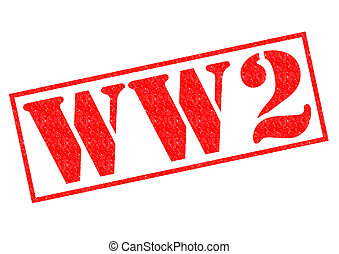 WORLD WAR 2 red Rubber Stamp over a white background