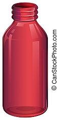 A pink medicine bottle