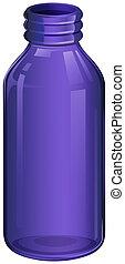 A violet medicine bottle