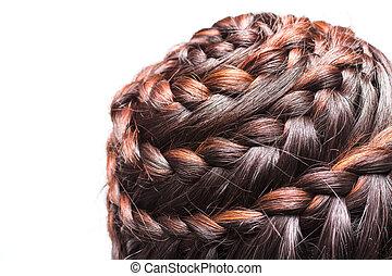 Side view image of beautiful braid hair