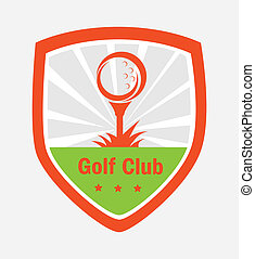 golf logo design over gray background vector illustration