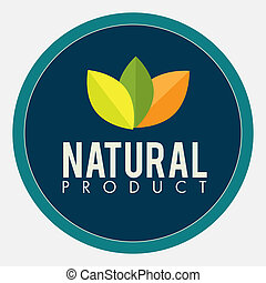 natural product design over white vector illustration