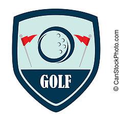 golf logo design over white background vector illustration