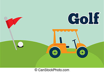 caddie golf design vector illustration