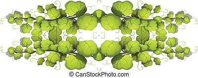 Green leafy plants - Illustration of the green leafy plants...