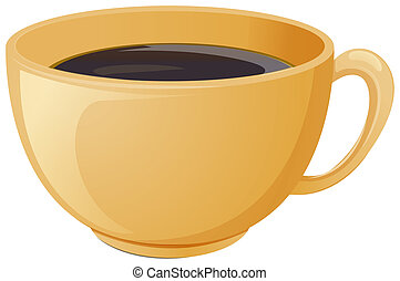 A cup of brewed coffee - Illustration of a cup of brewed...