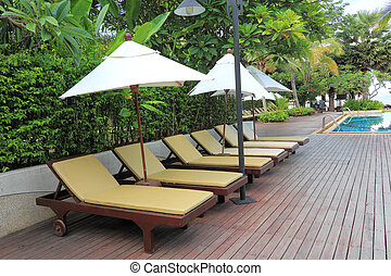 Chaise Longue - Chaise longue at the poolside in Thailand