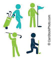 golf design pictograph - golf design over white background...