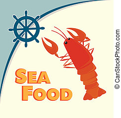 sea food lobster design vector illustration
