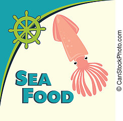 sea food octopus design vector illustration